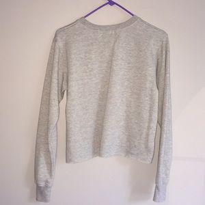 Mighty Fine Tops - 💋Mighty Fine💋S Gray Cropped Sweatshirt
